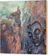 Ajanta Buddha Wood Print
