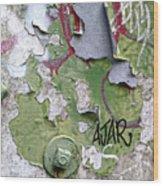 Ajar Wood Print