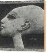 Akhenaten Was Among Us Wood Print