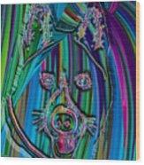 Akita Abstract Dog Wood Print