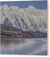 Akureyri Estuary Wood Print