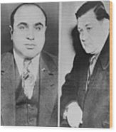 Al Capone Left And His Rival, George Wood Print by Everett