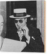Al Capone, With A Cigar And A Big Wood Print