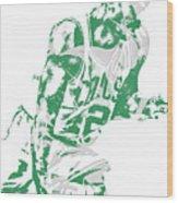 Al Horford Boston Celtics Pixel Art 5 Wood Print