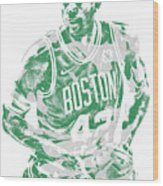Al Horford Boston Celtics Pixel Art 6 Wood Print