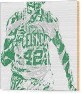 Al Horford Boston Celtics Pixel Art 7 Wood Print