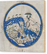 Al-idrisi's World Map Wood Print