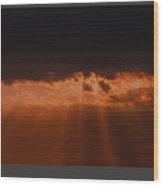 Al Udied Sunset  Wood Print