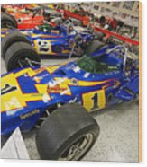 Al Unser Winning Cars At Indianapolis Wood Print