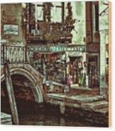 Al Valporetto-venice Italy Wood Print