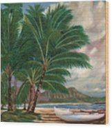 ala moana beach II Wood Print