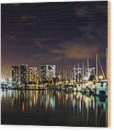 Ala Wai Boat Harbor Wood Print