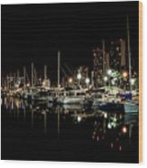 Ala Wai Boat Harbor II Wood Print