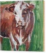 Alabama Cow Wood Print