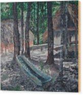 Alabama Creek Indian Village Wood Print