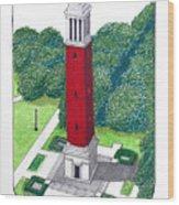 Alabama Wood Print by Frederic Kohli