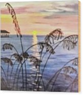 Alabama Sunset Wood Print