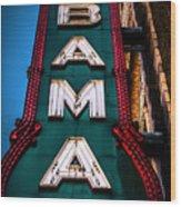 Alabama Theater Sign 1 Wood Print