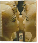 Alabaster Carvings Found In The Tomb Wood Print by Kenneth Garrett