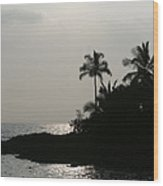 Alabaster Sunset Makena Landing Maui Hawaii Wood Print
