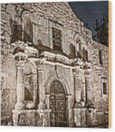 Alamo Door Wood Print