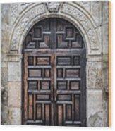 Alamo Doors Wood Print