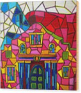 Alamo Mosaic Two Wood Print