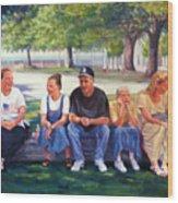 Alamo Pilgrims Wood Print