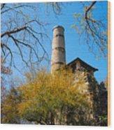 Alamo Portland Cement Factory II Wood Print
