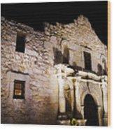 Alamo Remembrance Wood Print