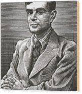 Alan Turing, British Mathematician Wood Print