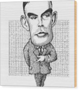 Alan Turing, British Mathematician Wood Print