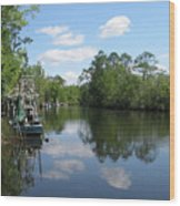 Alaqua Creek Wood Print