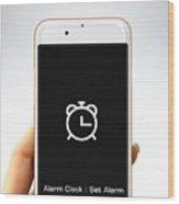 Alarm Clock Wood Print