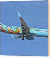 Alaska 737-990 N318as Spirit Of Disneyland Phoenix Sky Harbor November 27 2017 Wood Print