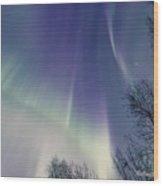 Alaska Aurora Borealis Wood Print