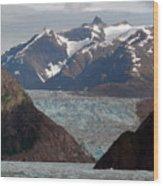 Alaska Blue Wood Print