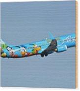 Alaska Boeing 737-990 N318as Disneyland Phoenix Sky Harbor January 19 2016 Wood Print