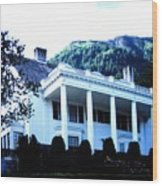 Alaska Governors Mansion Wood Print