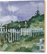 Alaska Graveyard  Wood Print