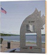 Alaska Highway Memorial Wood Print
