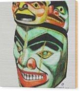 Alaska Masks Wood Print