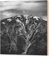 Alaska Mountain Range Wood Print