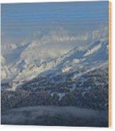 Alaska Mountain View Wood Print