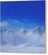 Alaska Mountains Wood Print