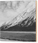 Alaska Mountains Wood Print