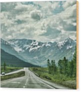 Alaska On The Road  Wood Print