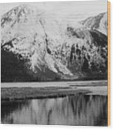 Alaska Reflection Wood Print
