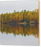 Alaska Reflection Wood Print