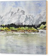 Alaska Solitude Wood Print